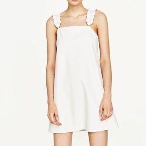 Zara vegan leather dress